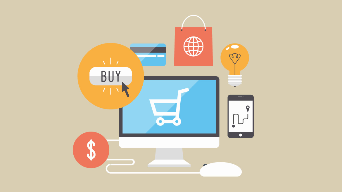 e-commerce online shopping illustration