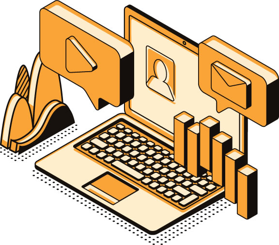 laptop illustration web icons